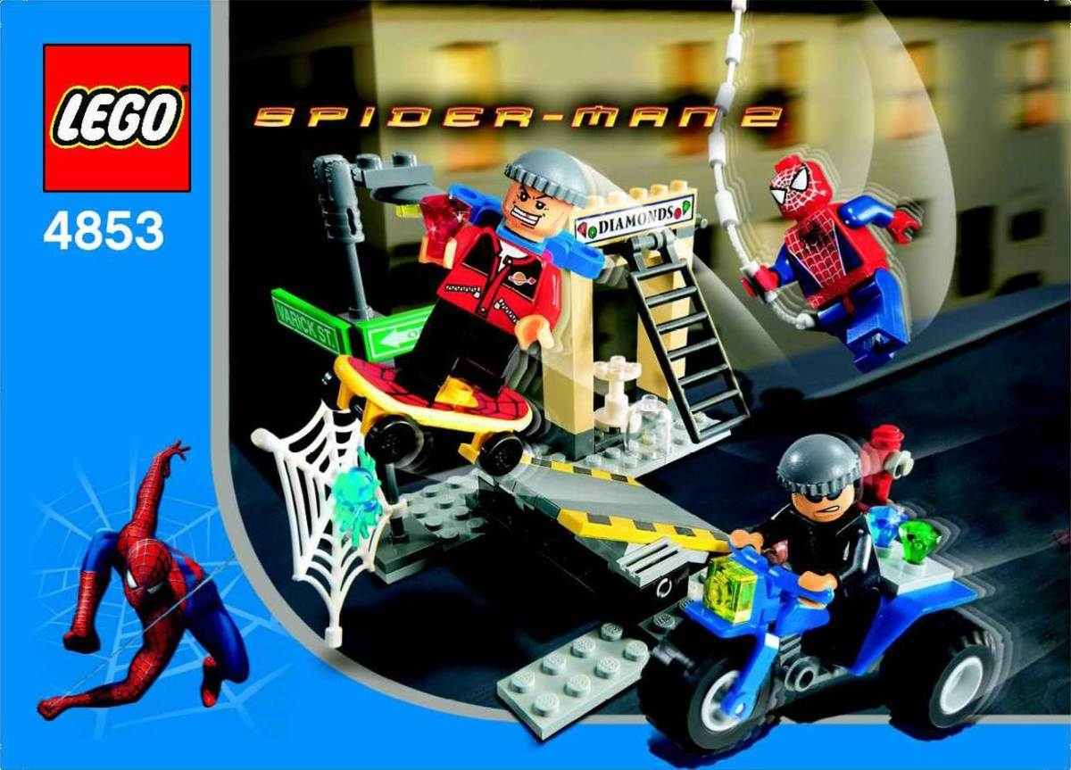 LEGO Spider-Man's Street Chase 4853 Box