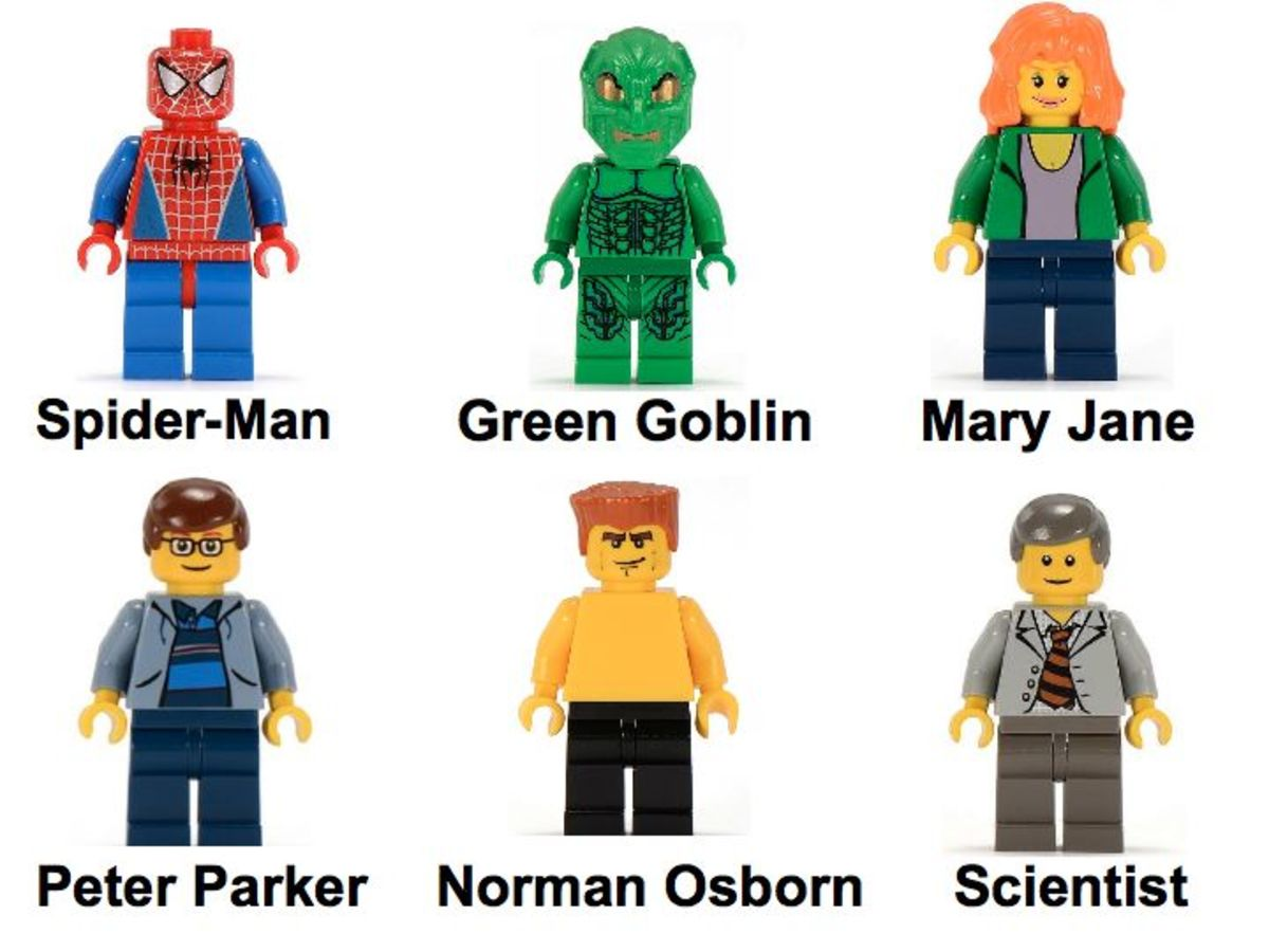 LEGO Spider-Man and Green Goblin: The Origins 4851 Minifigures