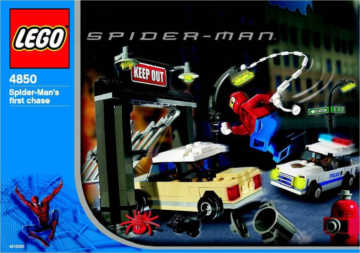 LEGO Spider-Man's First Chase 4850 Box