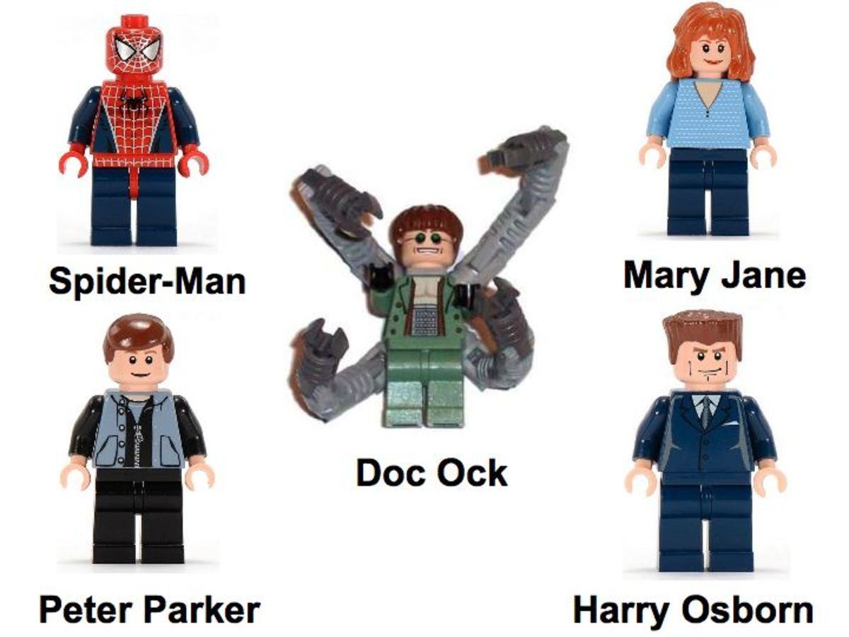 LEGO Spider-Man Doc Ock's Hideout 4856 Minifigures