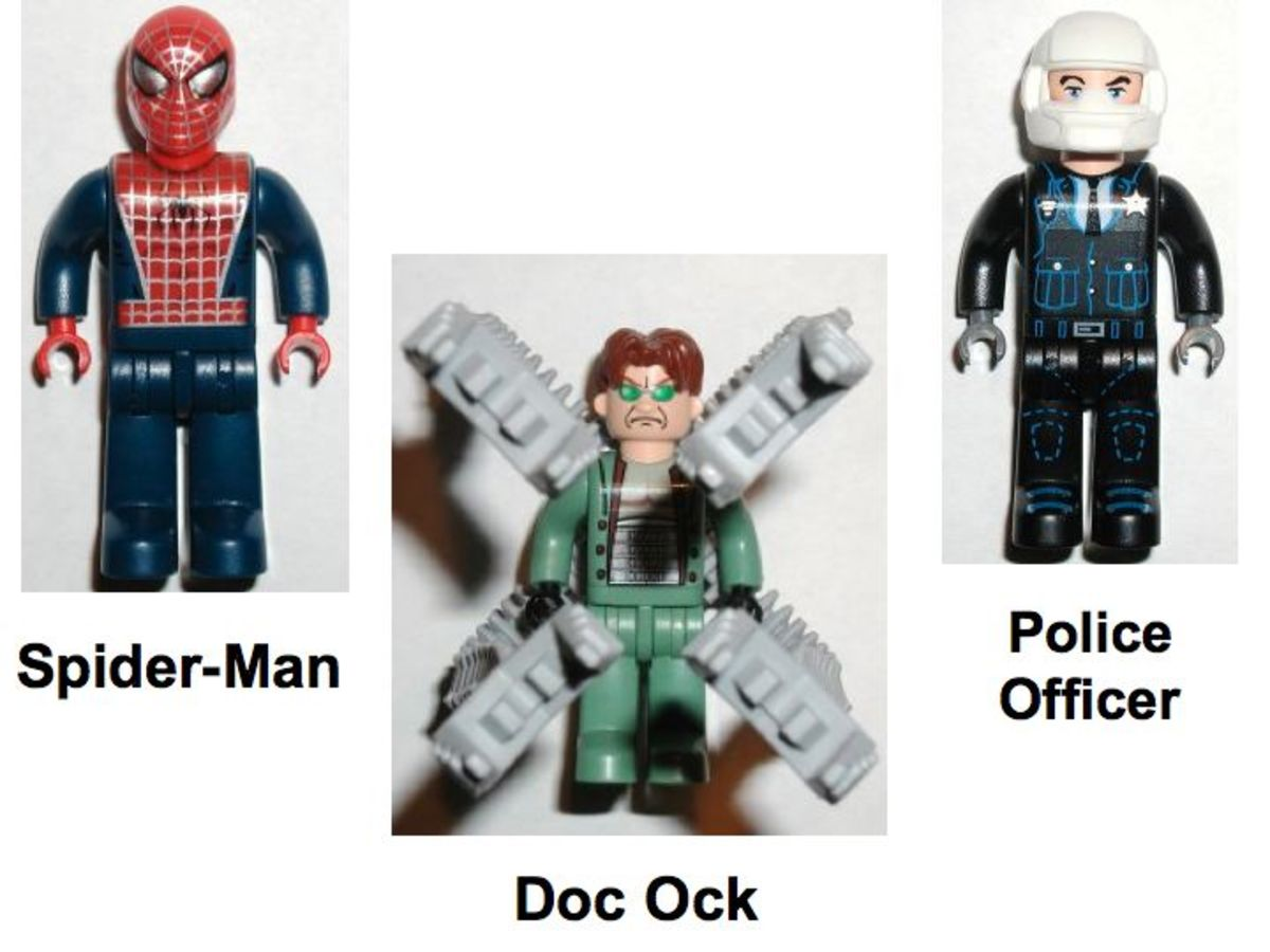LEGO Spider-Man Doc Ock's Crime Spree 4858 Minifigures
