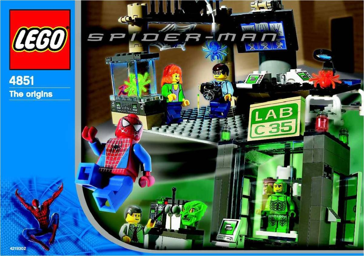 LEGO Spider-Man and Green Goblin: The Origins 4851 Box