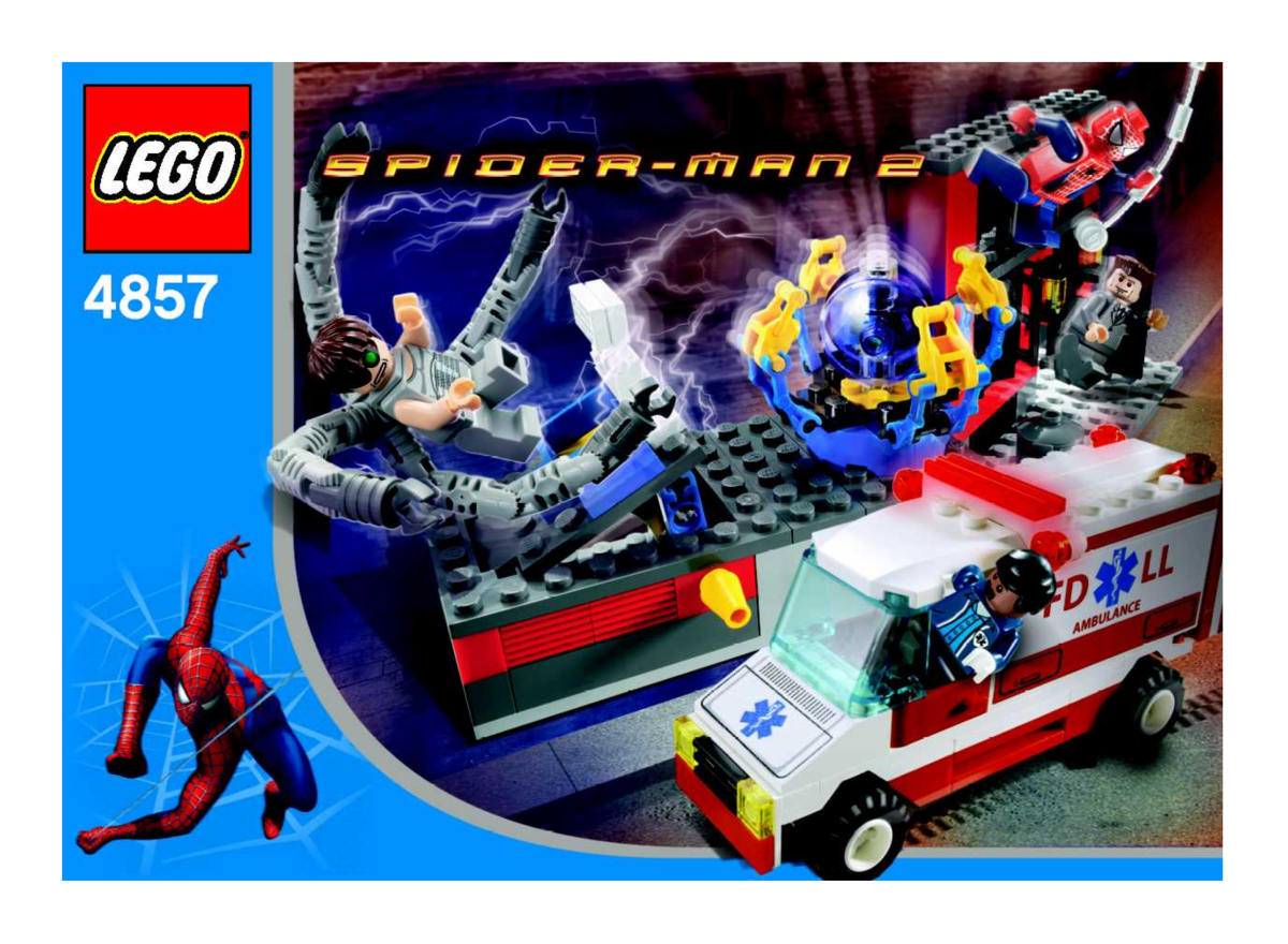 LEGO Spiderman Doc Ock's Fusion Lab 4857 Box