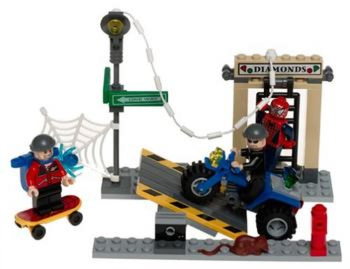 LEGO Spider-Man's Street Chase 4853 Assembled