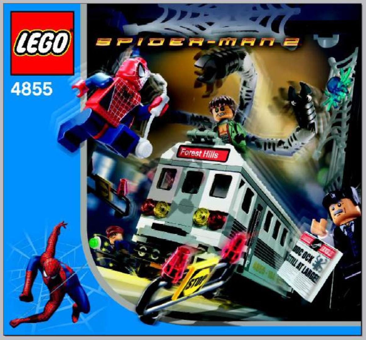 LEGO  Spider-Man's Train Rescue 4855 Box