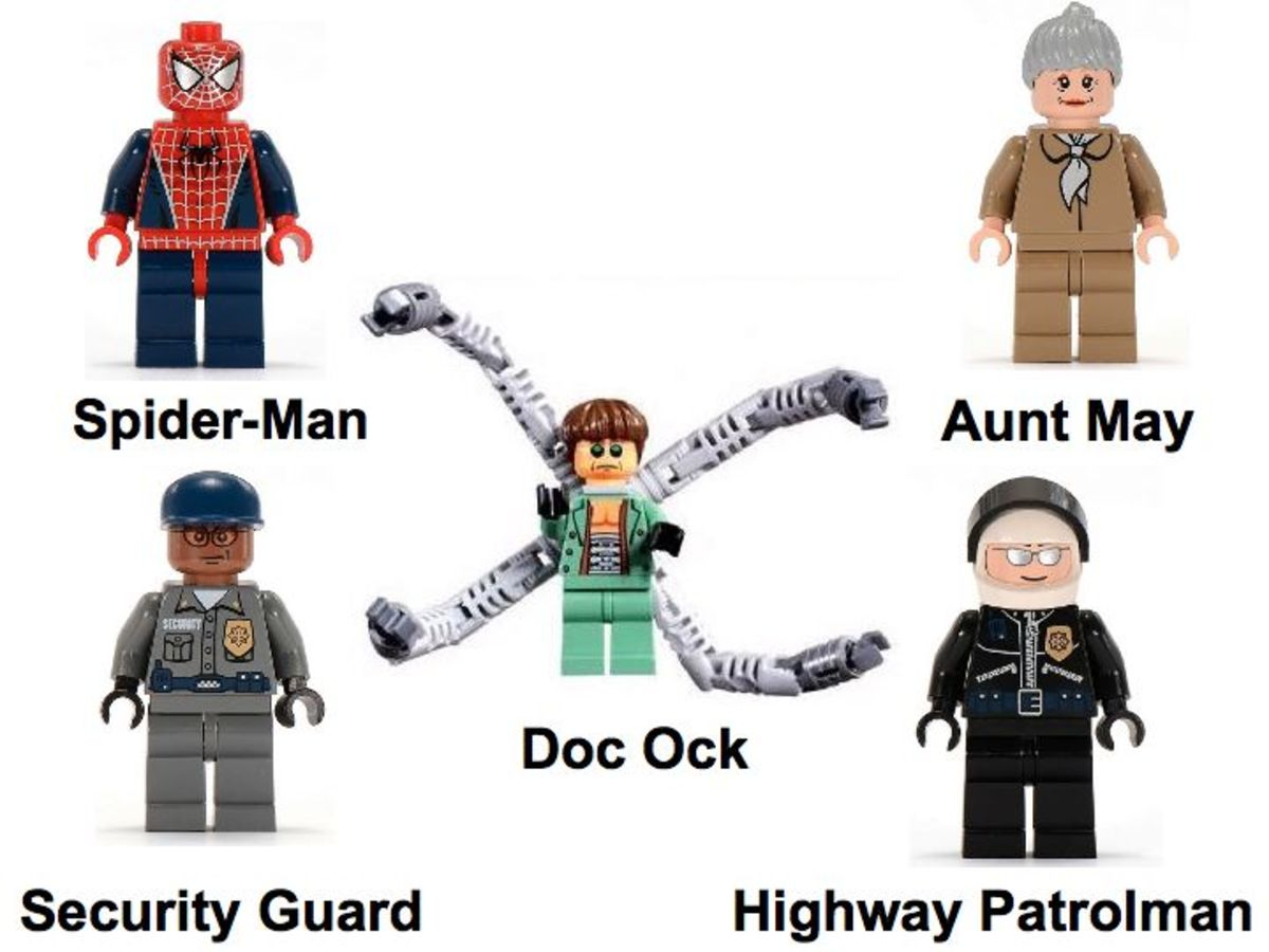 LEGO Spider-Man Doc Ock's Bank Robbery 4854 Minifigures