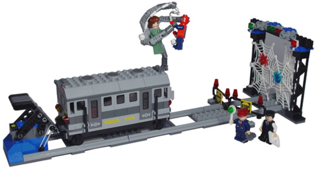 LEGO  Spider-Man's Train Rescue 4855 Assembled