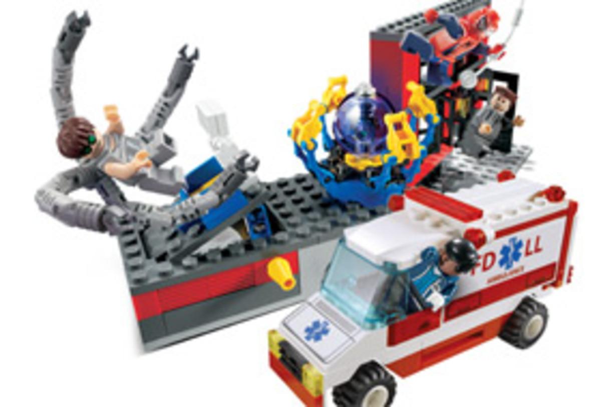 LEGO Spiderman Doc Ock's Fusion Lab 4857 Assembled