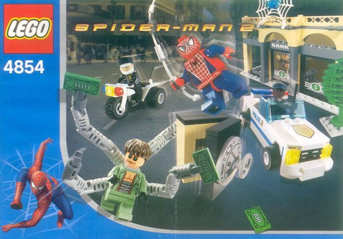LEGO Spider-Man Doc Ock's Bank Robbery 4854 Box