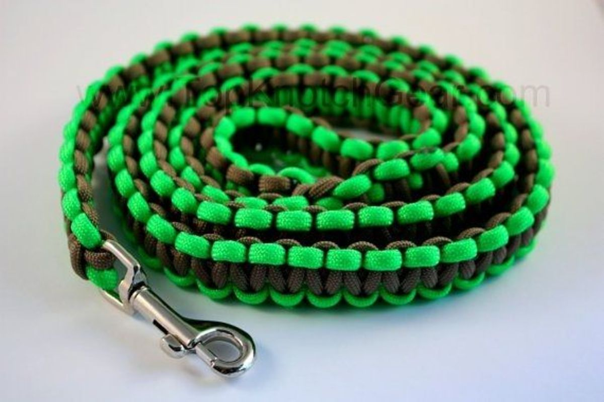 Paracord dog leash instructions for Paracord leash instructions