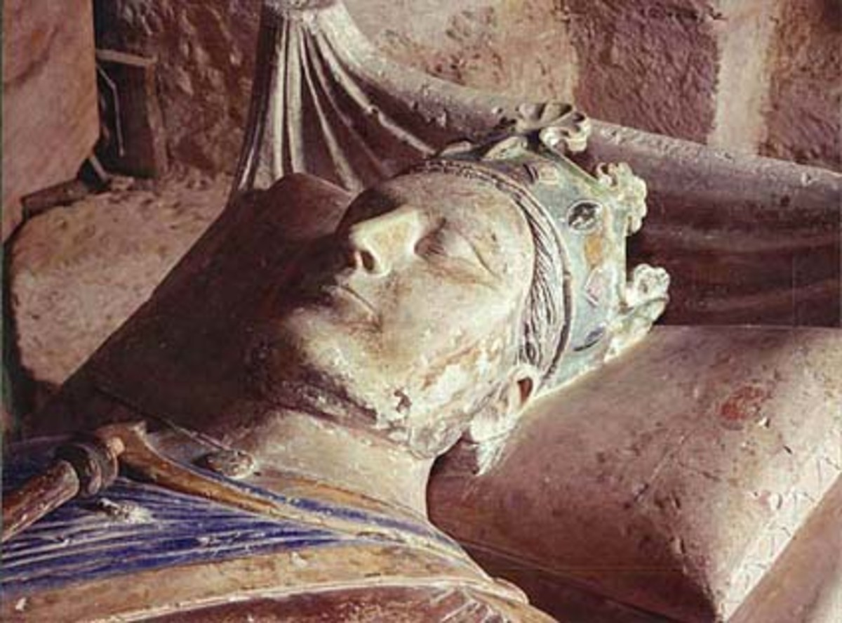 The effigy of Henry II at his tomb in the Fontevrault Abbey in France