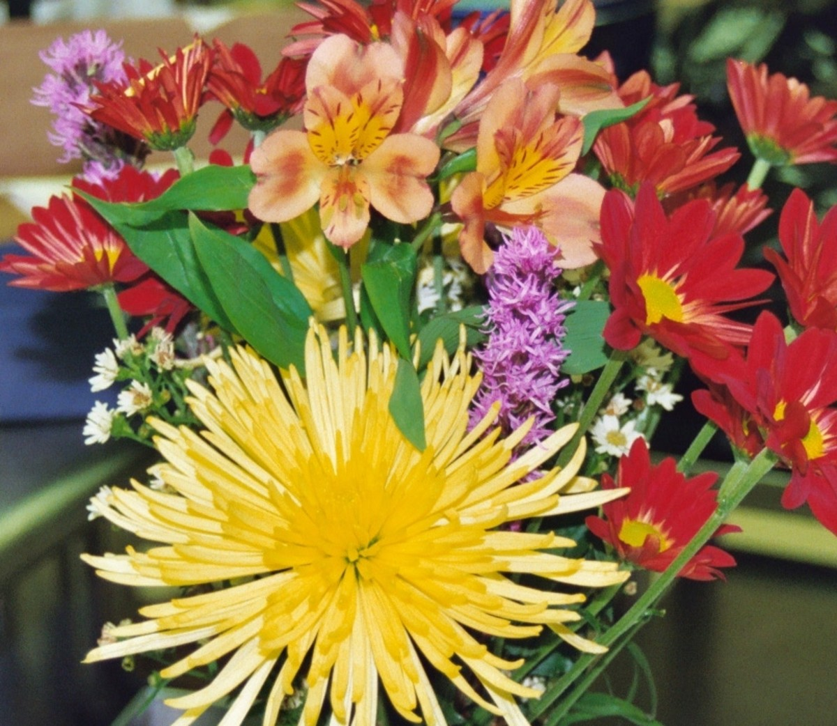 A colorful arrangement brings sunshine to the life of the woman who celebrates her special day.