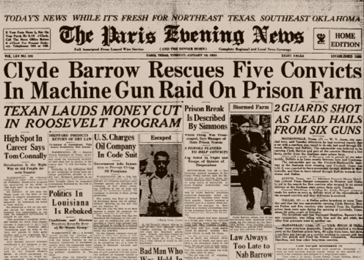 Paris Evening News Front Page Story on Eastham Prison Break