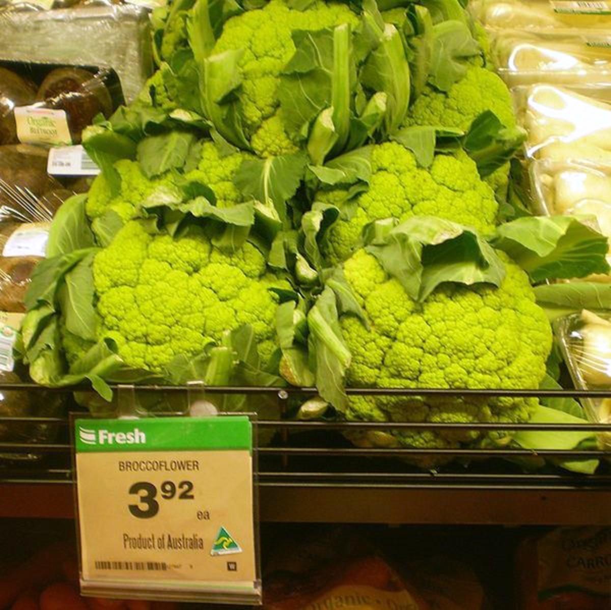 Broccoflower (green cauliflower)