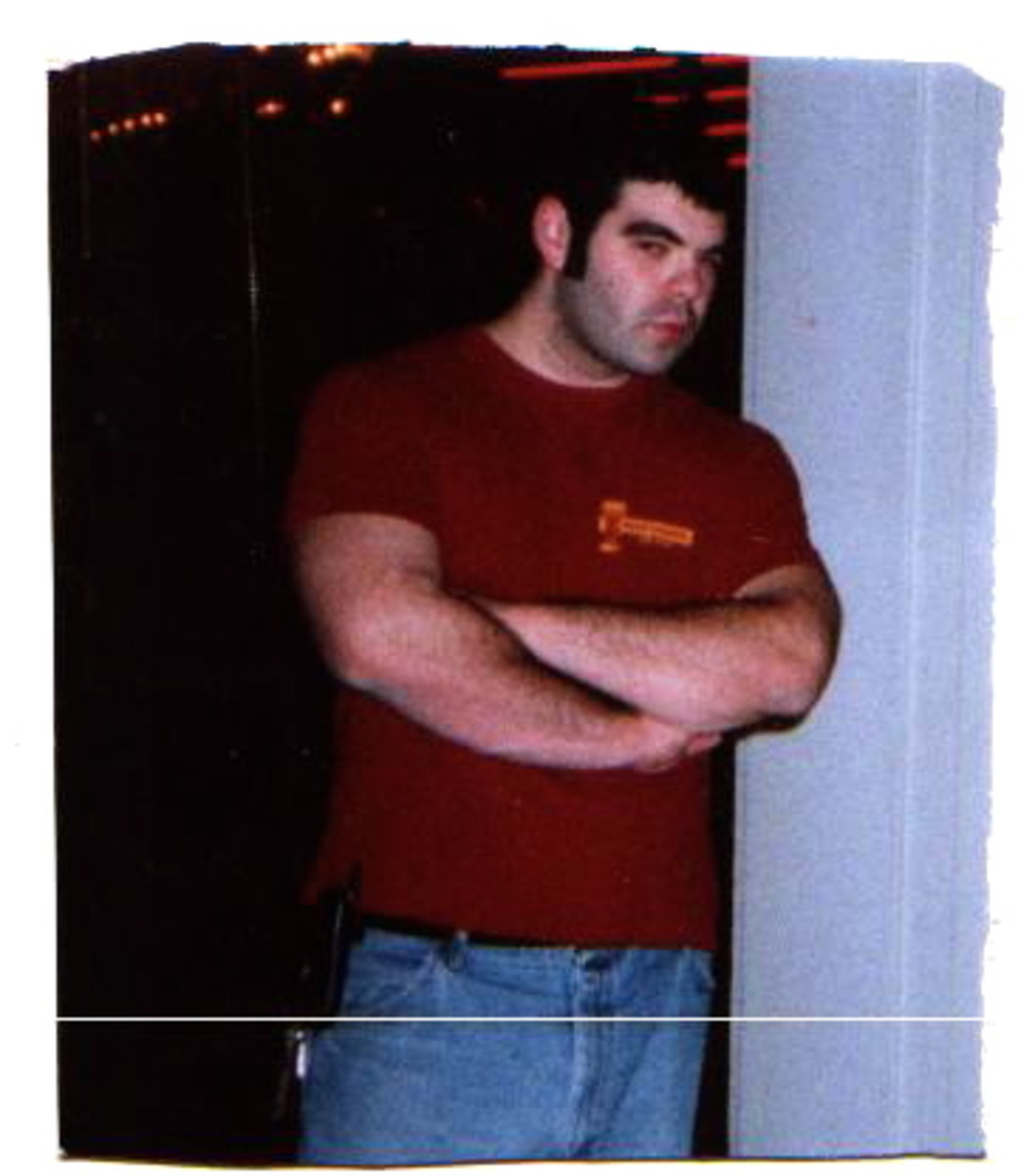 I was about 18 in this picture. I went from this, playing football to the fat boy down below.