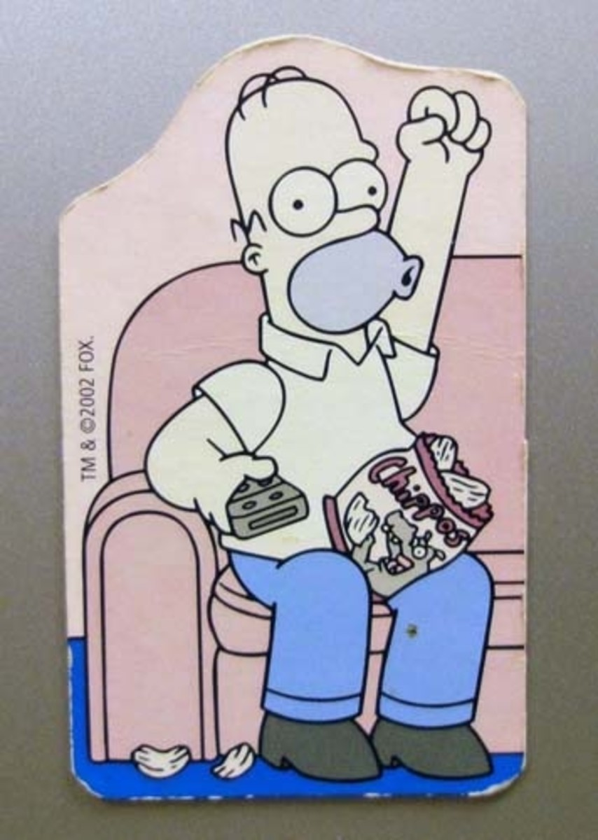Simpsons fridge card magnet.