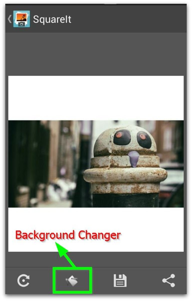 Squaring and changing Image background with SquareIt App