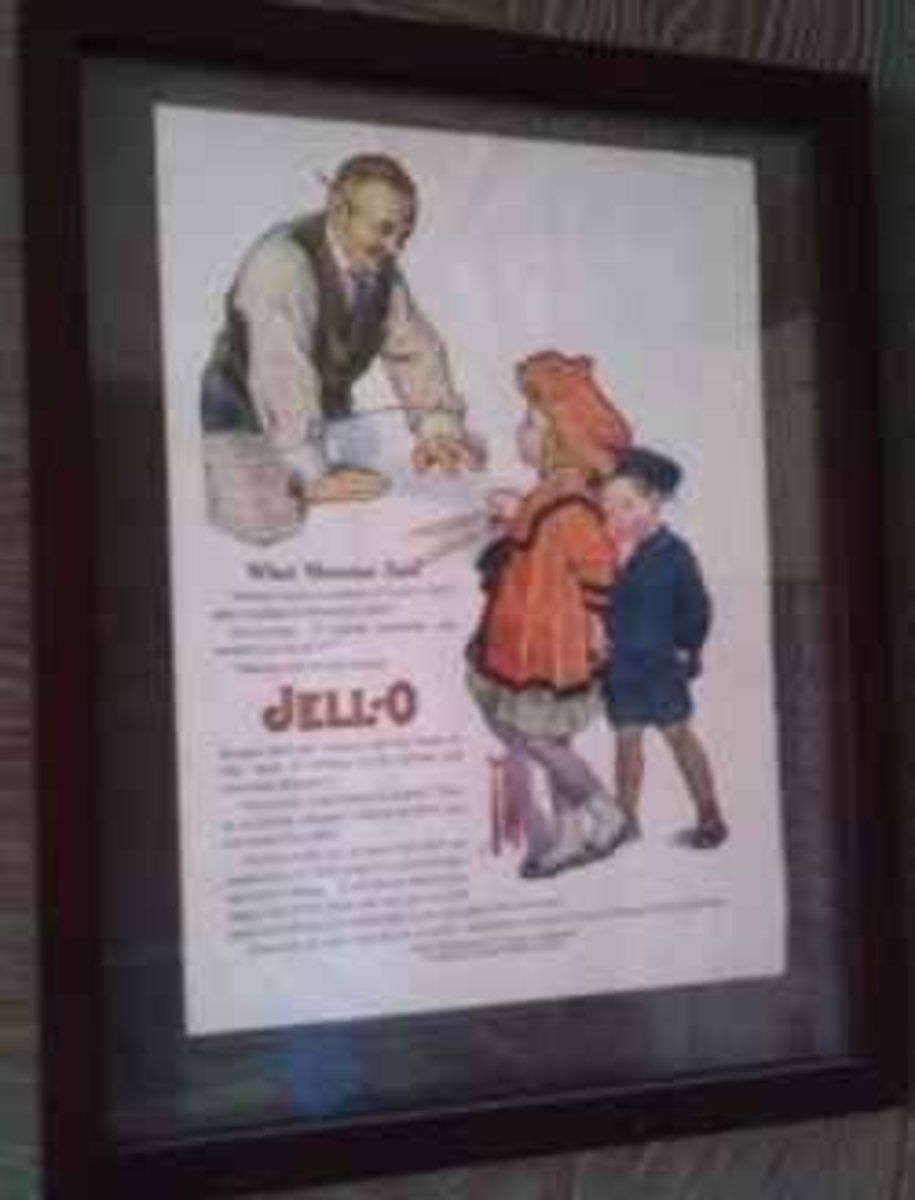 An example of Rose O'Neill's advertising art for Jello.