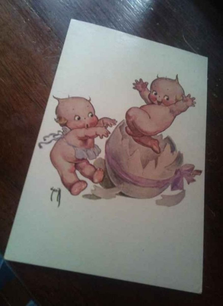 Kewpie Postcard from the 1970's.