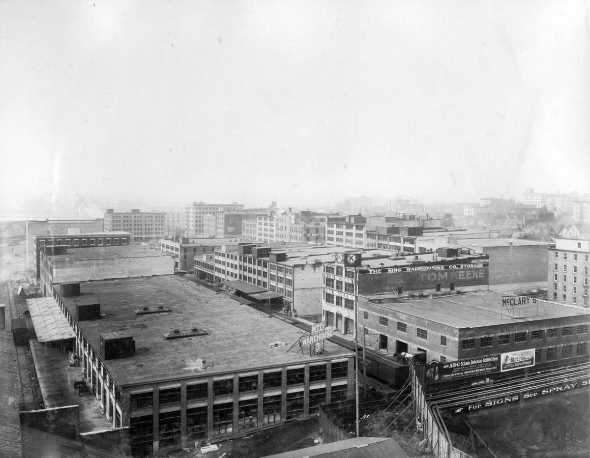 Warehouses in Yaletown, ca. 191-?