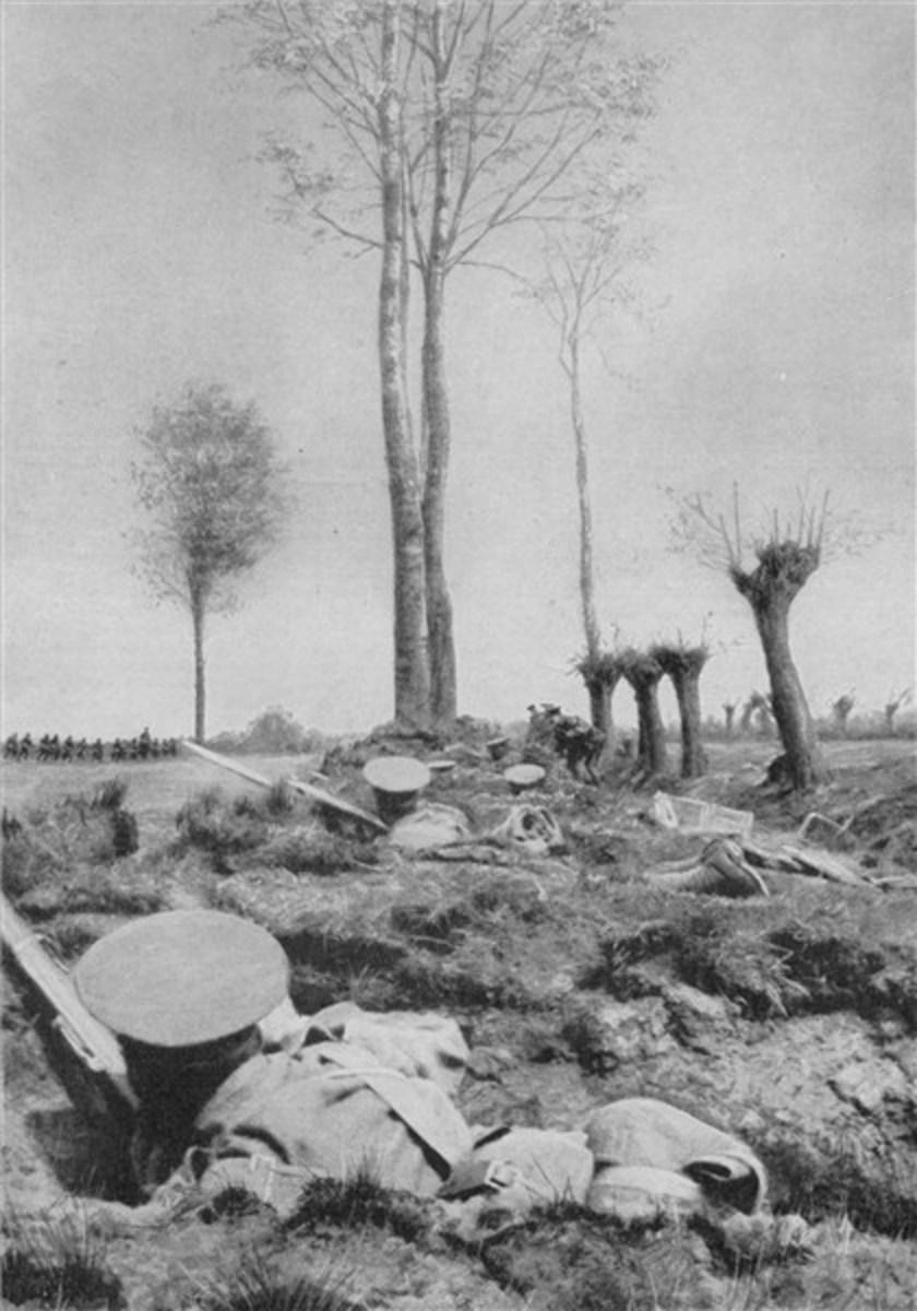 Battlefield at Mons