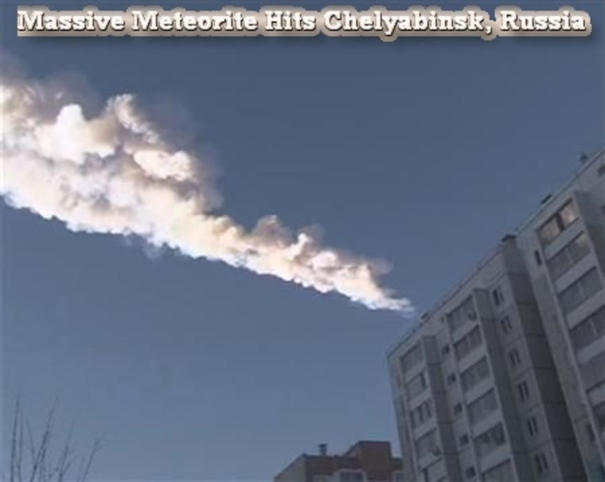 Meteorite Hits Chelyabinsk Russia, Injuring More Than 500 People