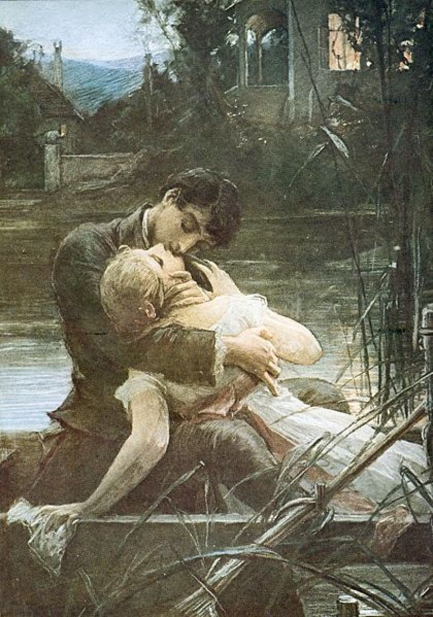 Maxmilian Pirner.  What a neat piece of art, Lovers in a boat.
