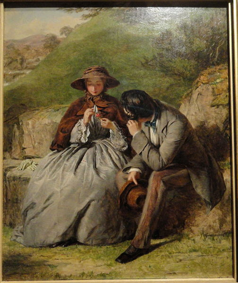 The Lovers - 1855