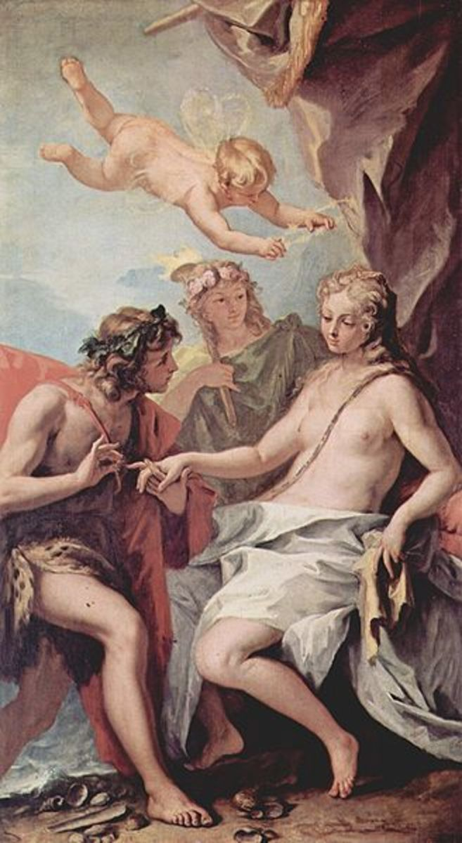 Bacchus und Ariadne - Sebastiano Ricci - Oil on Canvas - circa 1713