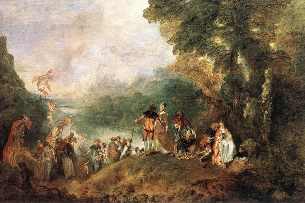Antoine Watteau - The Embarkation for Cythera - 1717 - Oil on Canvas. Louvre Museum