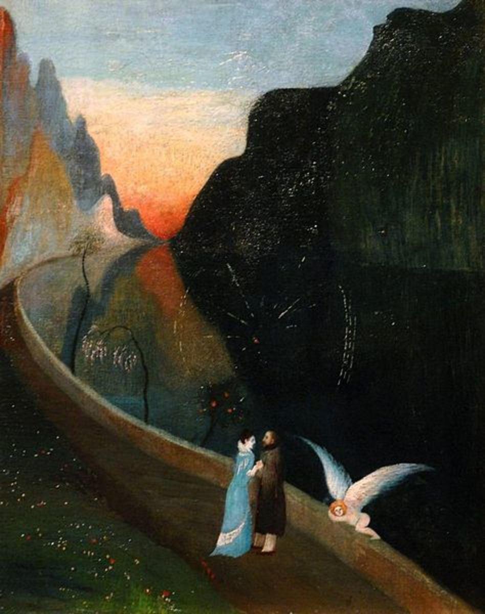 Rendez-vous of Lovers - Csontváry Szerelmesek találkozása.  Oil on Canvas - circa 1902