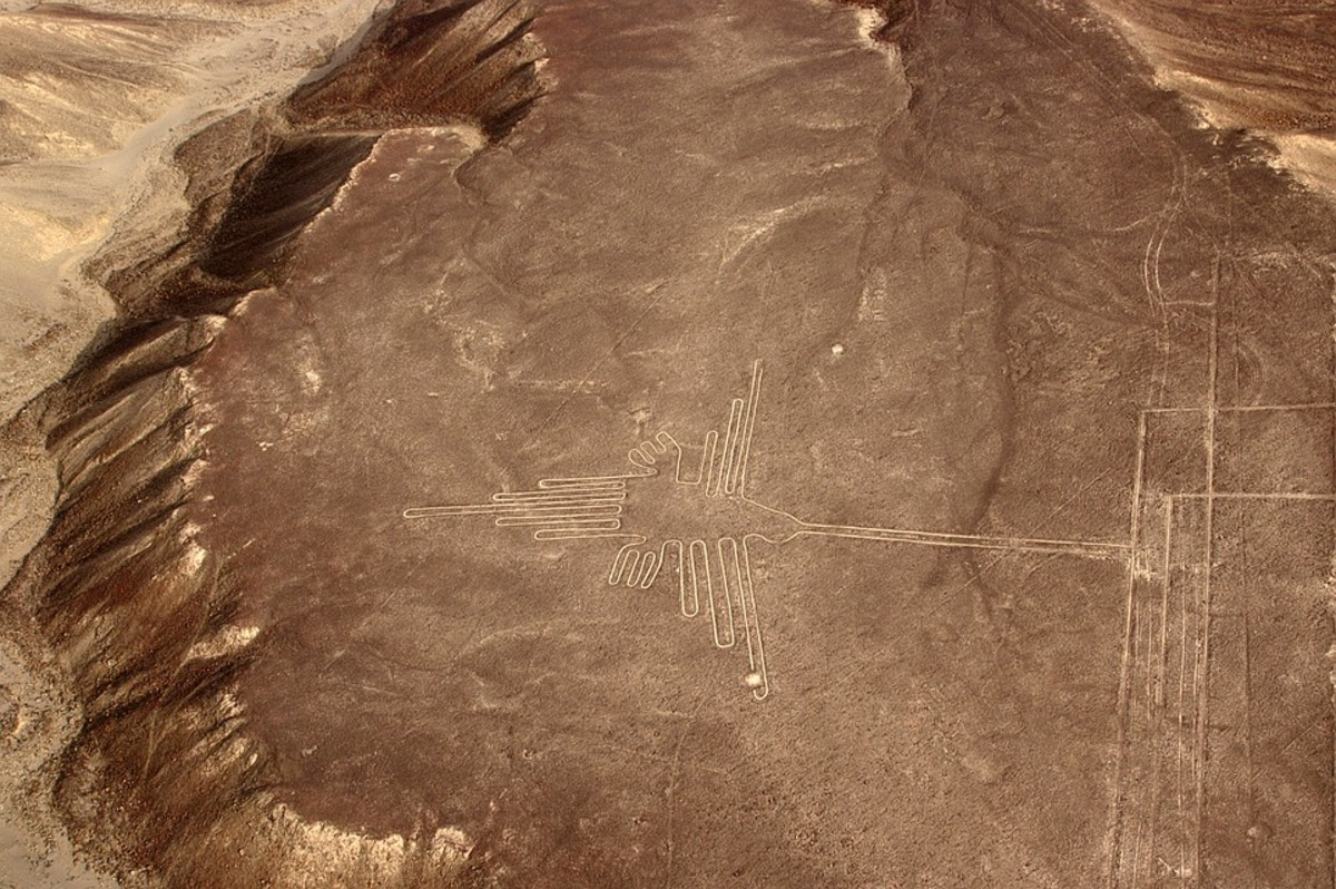 The Nazca lines include this picture of a hummingbird