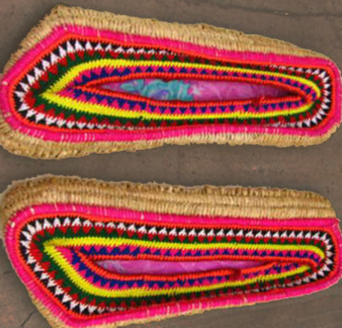Embroidered grass shoes or  Pula  are very popular and useful in winter in Himachal as most of the area falls in cold zone