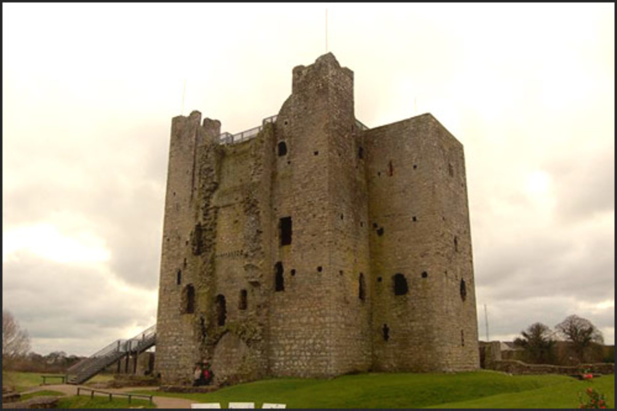 The Normans built many castles in Ireland, like this one at Trim in County Meath.