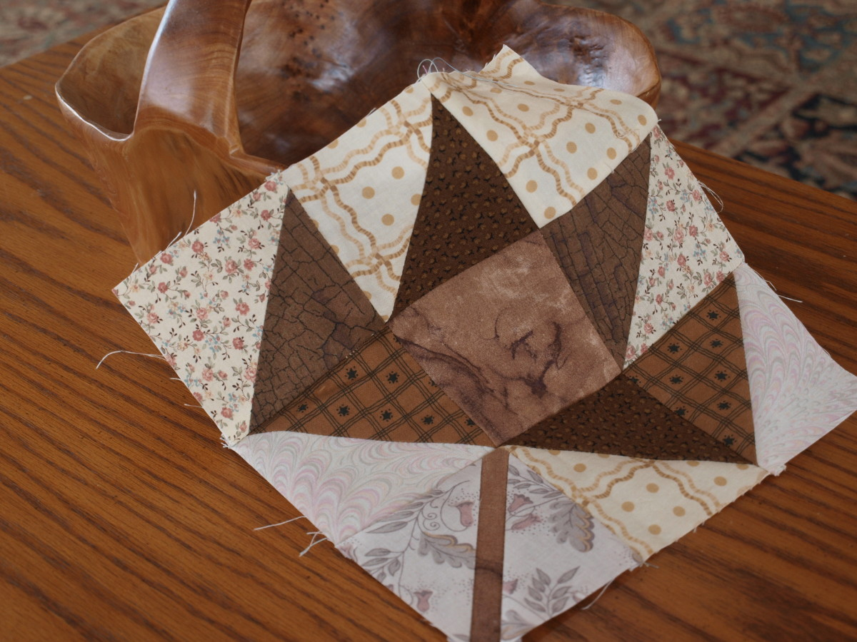 Quilt Leaf Block Pattern