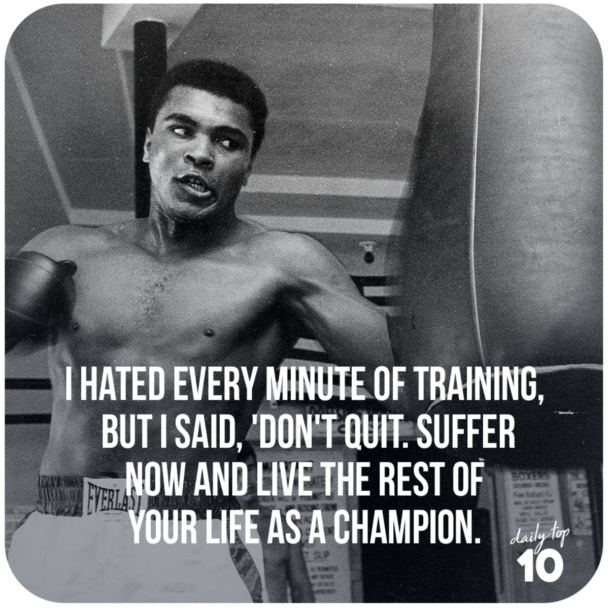 Muhammad Ali quote about life