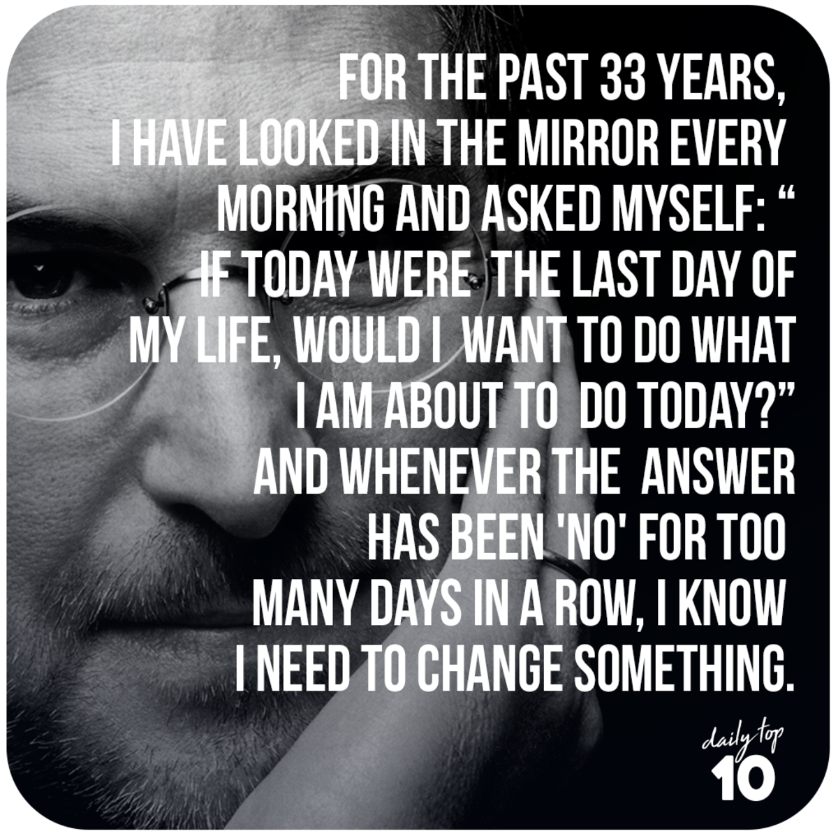 Steve Jobs quote about life