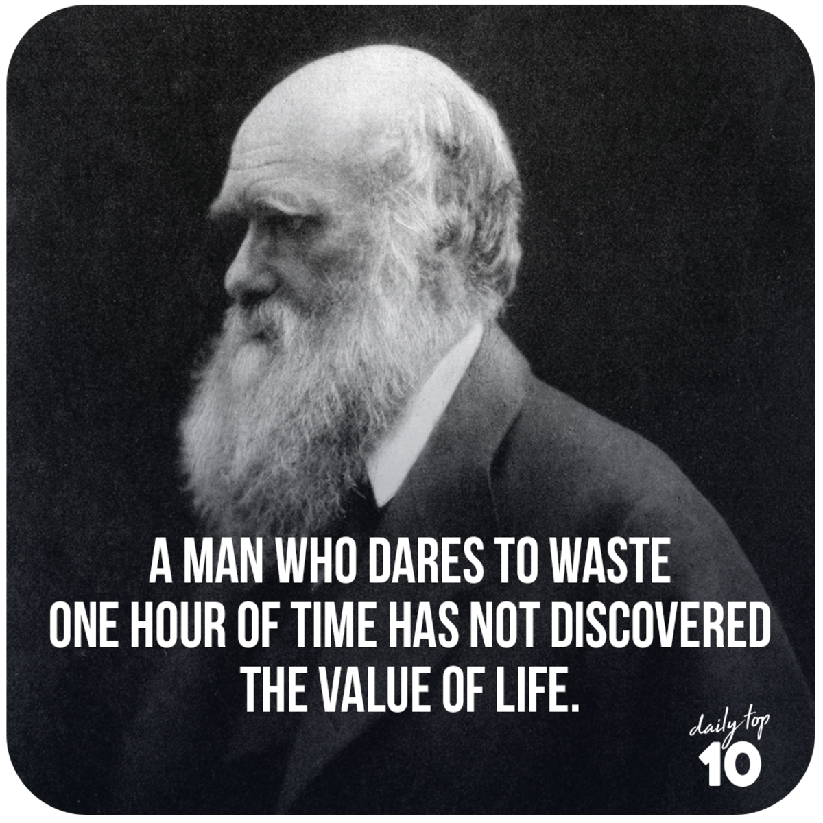 Charles Darwin quote about life