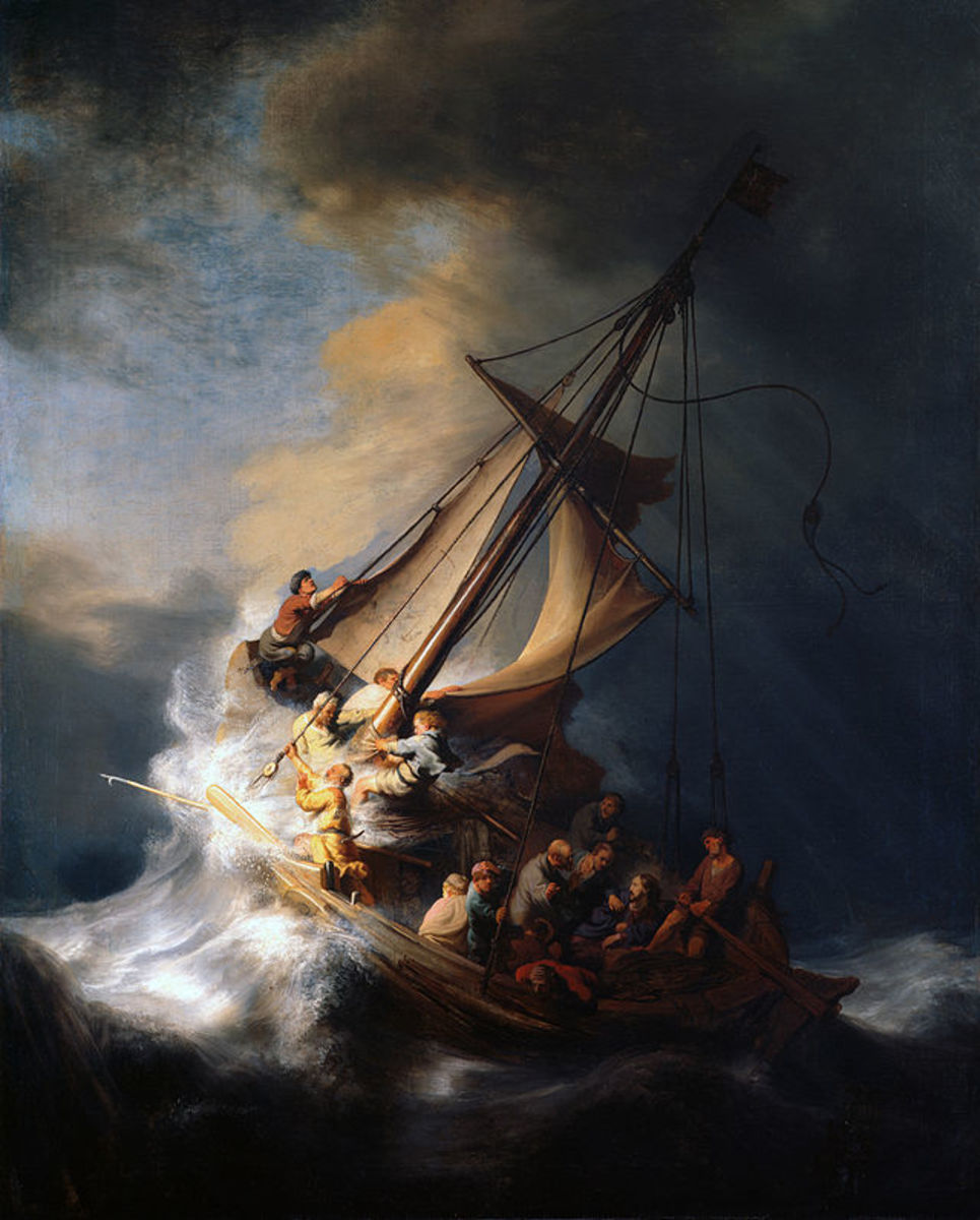 The Storm on the Sea of Galilee by Rembrandt, 1632.