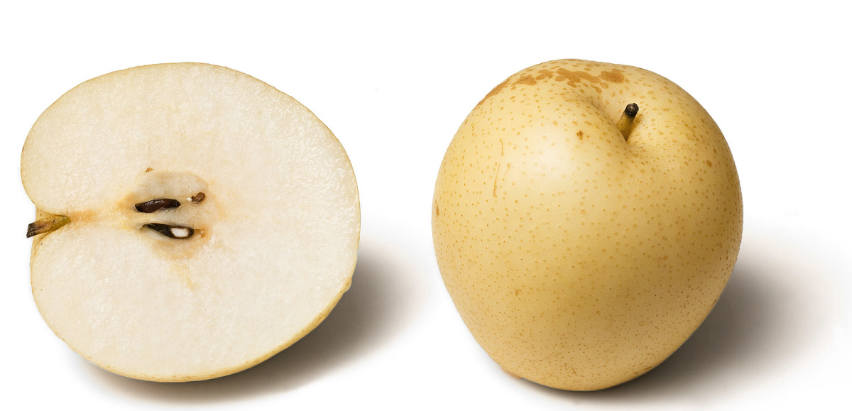 Apple shaped Nashi pear