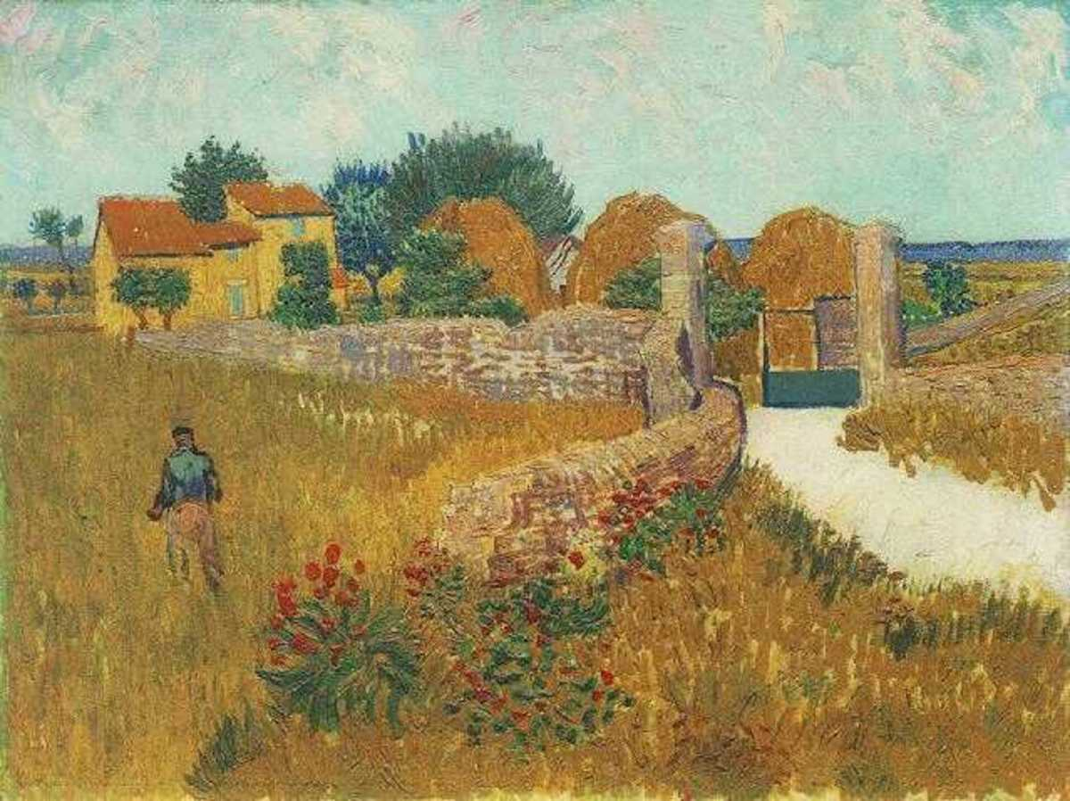 Farmhouse in Proveance.  Painted by Vincent Van Gogh.