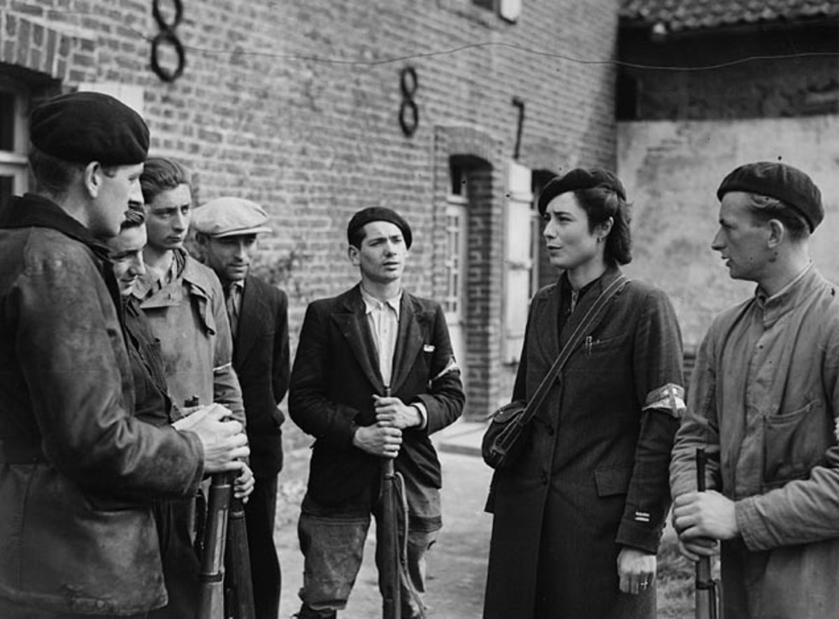 Members of the French Resistance in France during WWII.