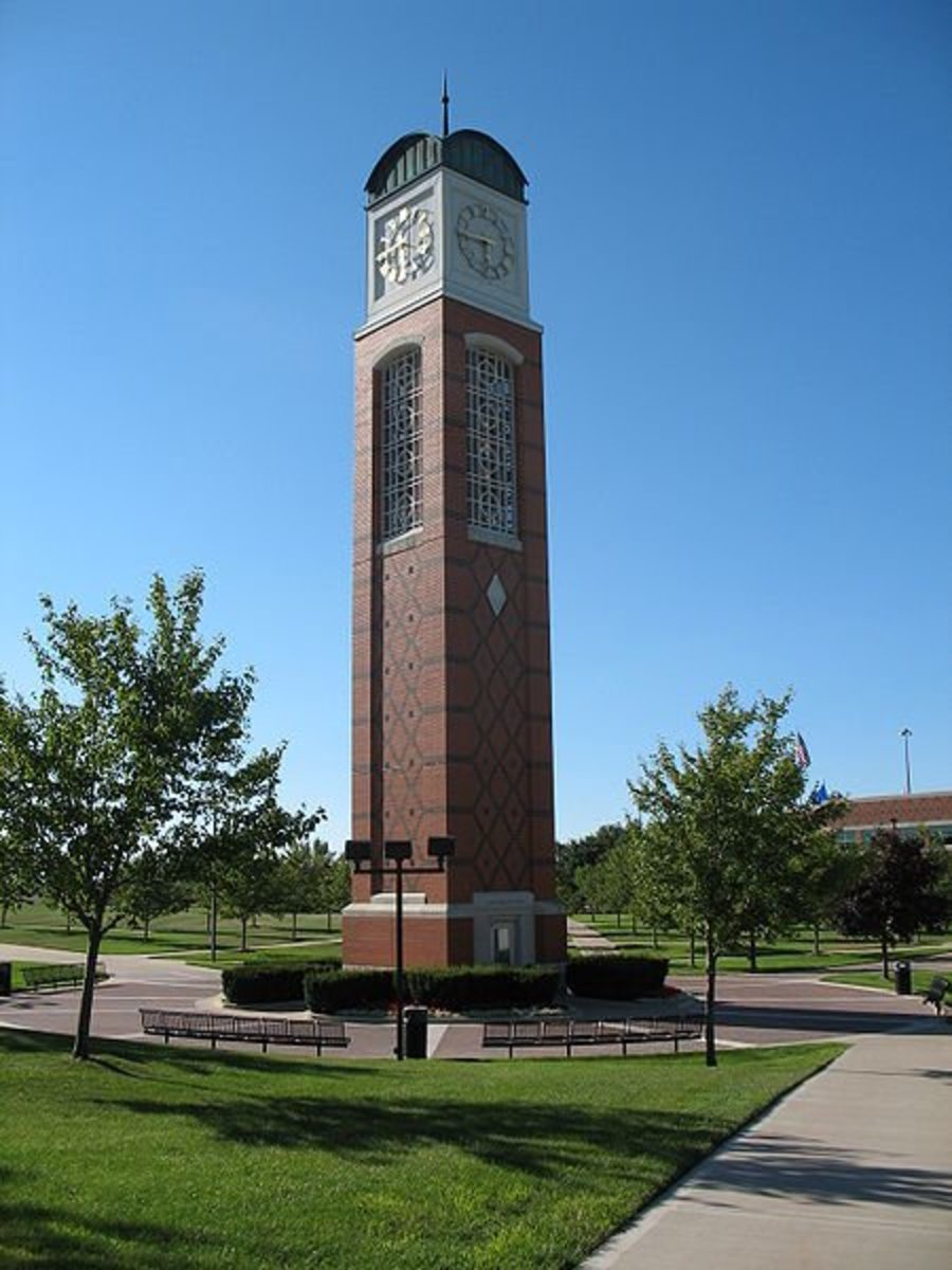 The Cook Carillon Tower at Grand Valley State University, one of the few universities in the country offering a bachelor's degree in ASL Interpreting.