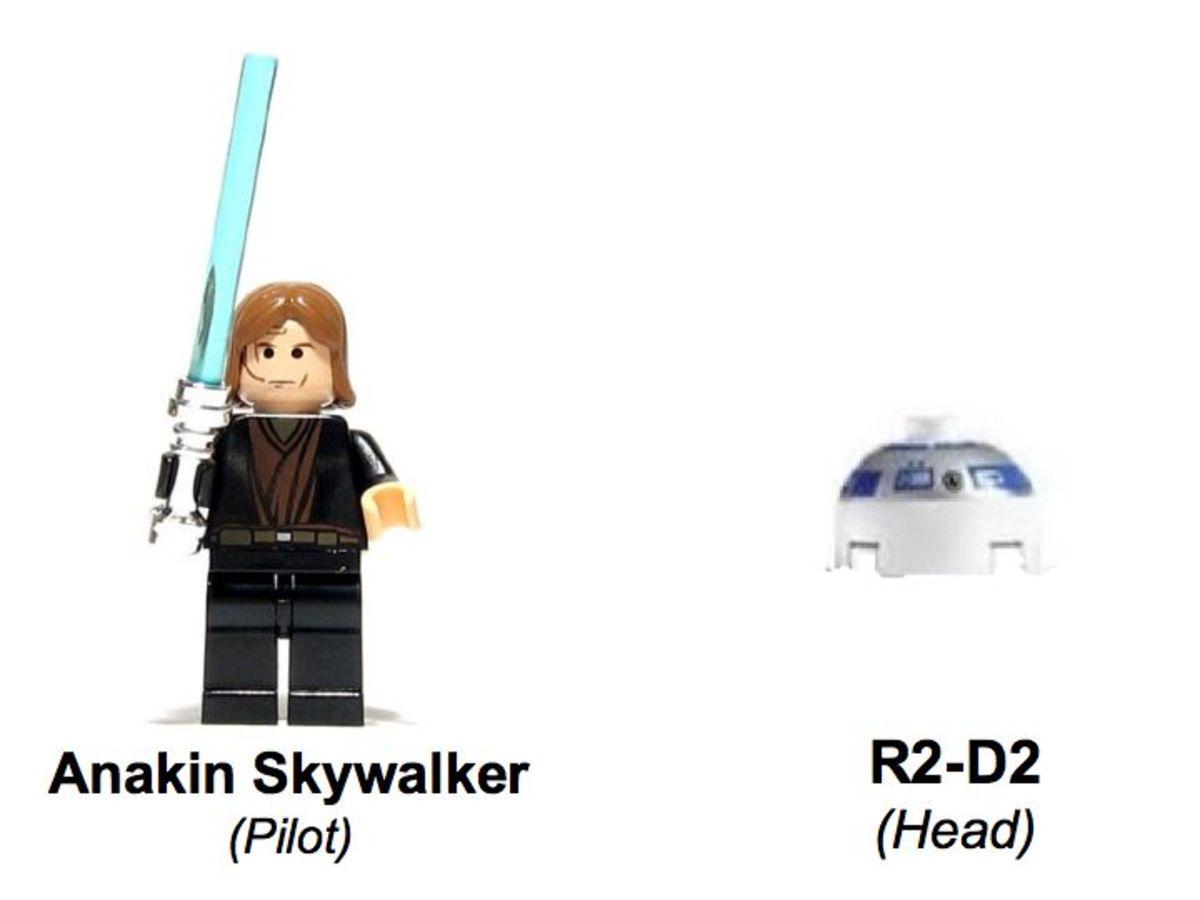LEGO Star Wars Jedi Starfighter & Vulture Droid 7256 Minifigures