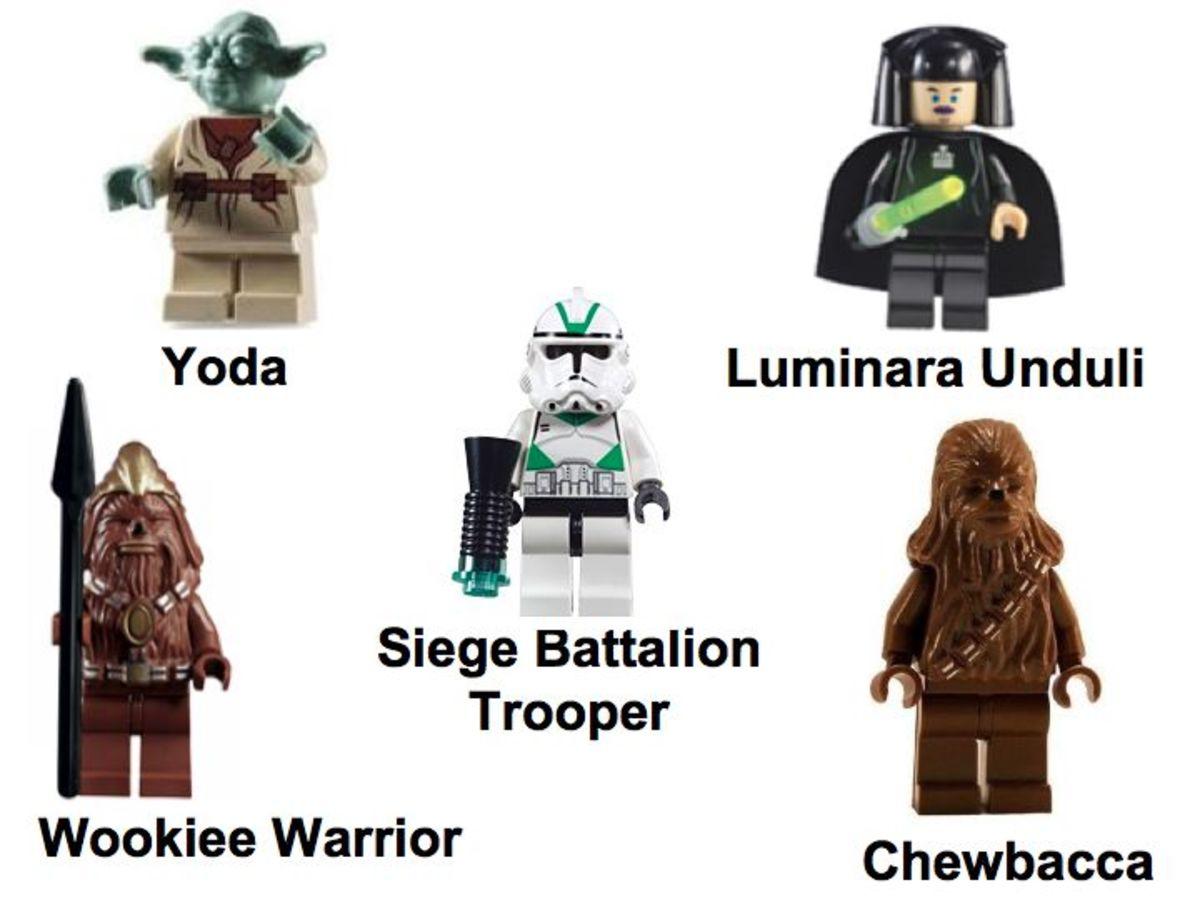 LEGO Star Wars Wookiee Catamaran 7260 Minifigures