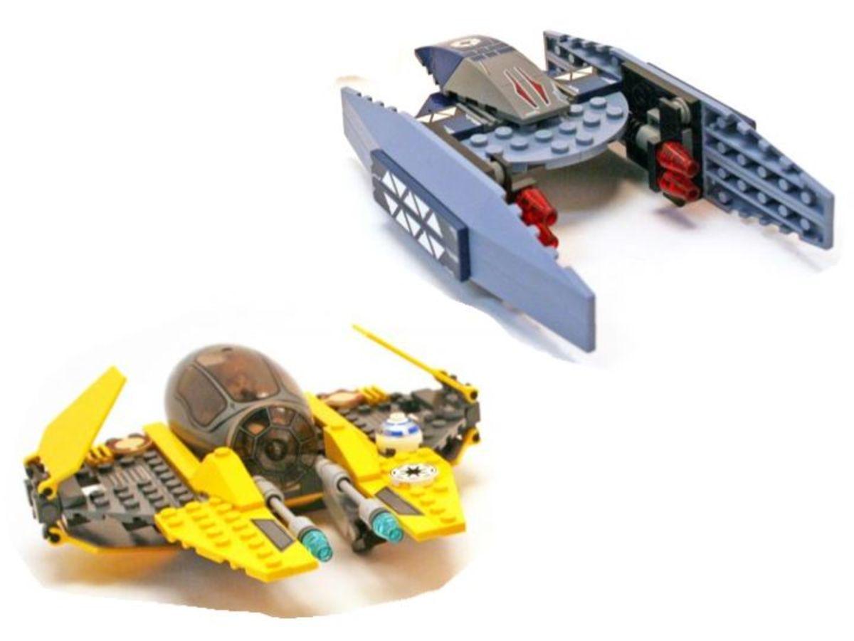 LEGO Star Wars Jedi Starfighter & Vulture Droid 7256 Assembled