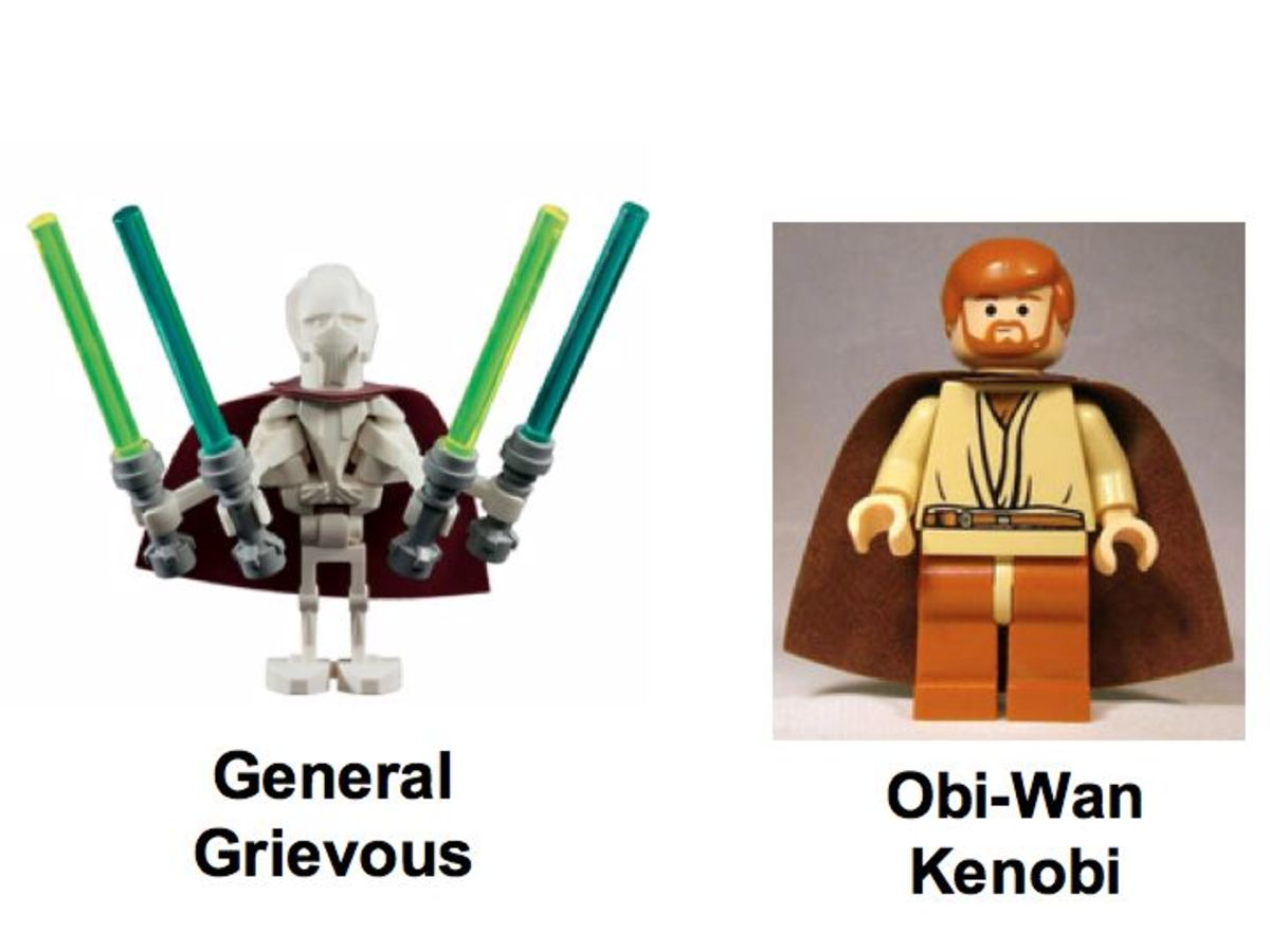 LEGO Star Wars General Grievous Chase 7255 Minifigures