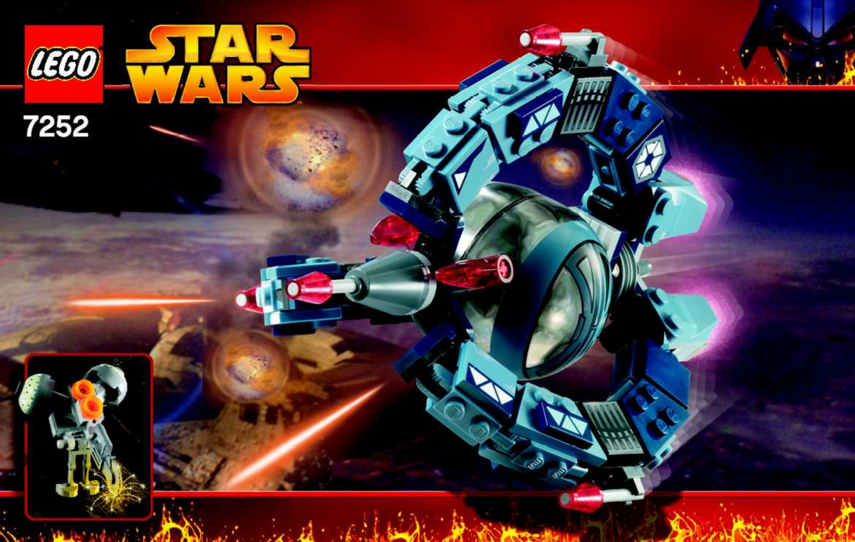 LEGO Star Wars Droid Tri-Fighter 7252 Box