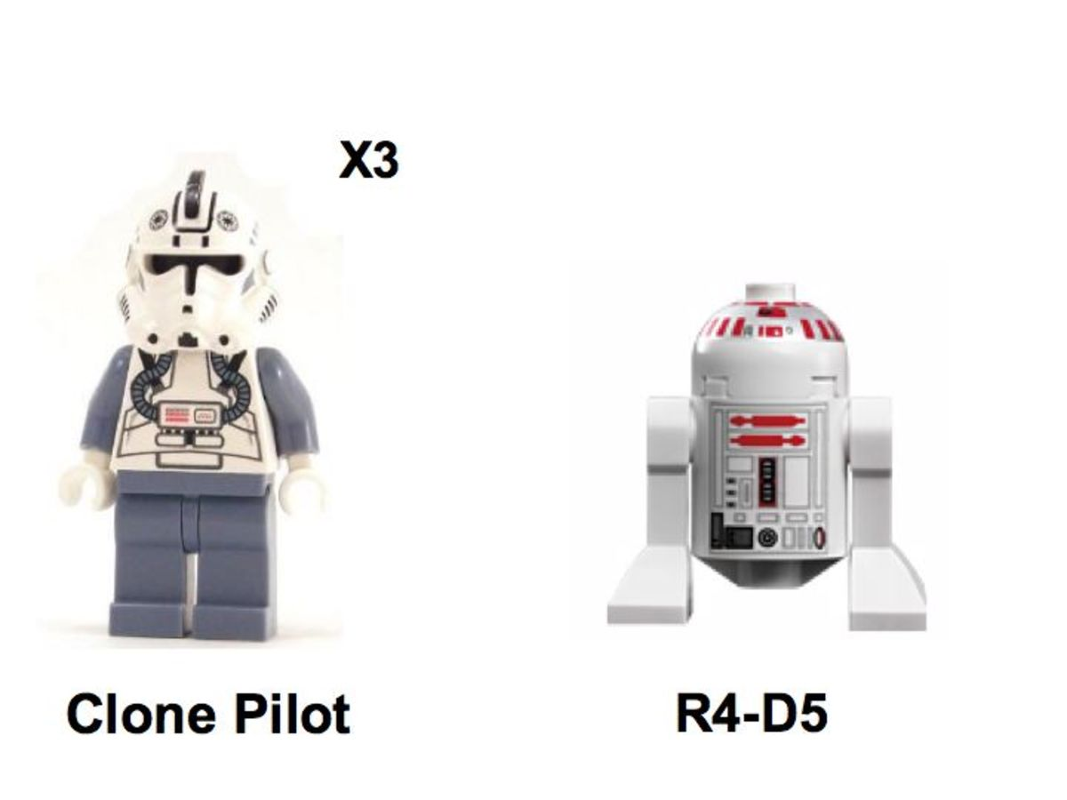 LEGO Star Wars Arc-170 Fighter 7259 Minifigures
