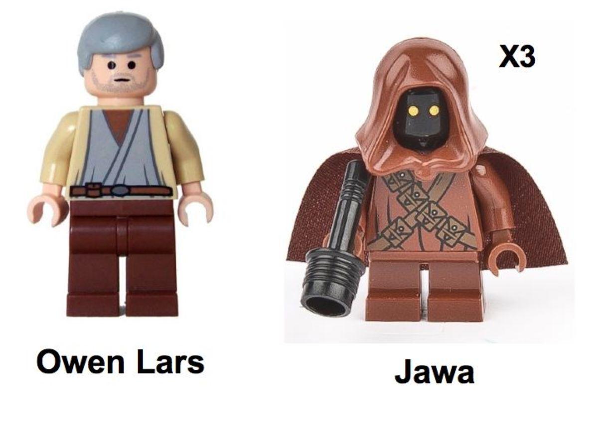LEGO Star Wars Sandcrawler 10144 Minifigures